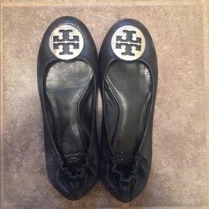 Gentle worn Tory Burch black shoes